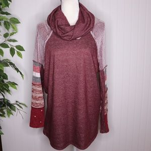 12 Pm by Mon Ami Cowl Neck Sweater Size M